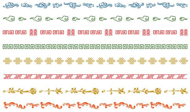 中華模様 飾り線