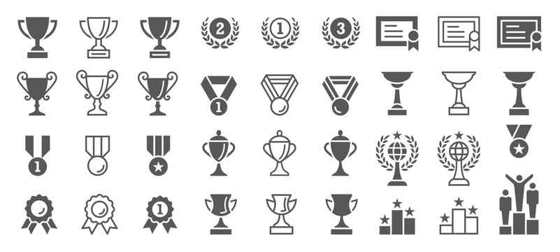 Set of Winning Vector Icons