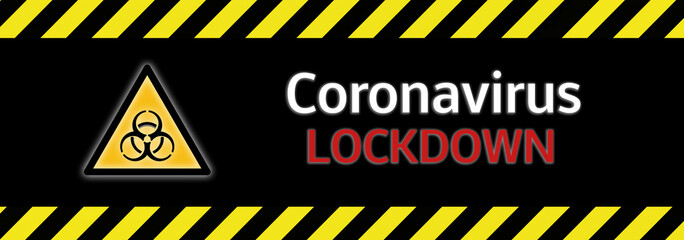 Banner Biohazard Coronavirus Covid-19 Lockdown
