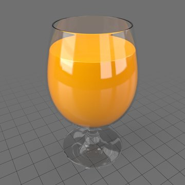 Pokal glass with orange juice