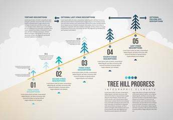 Tree Hill Progress Infographic Layout