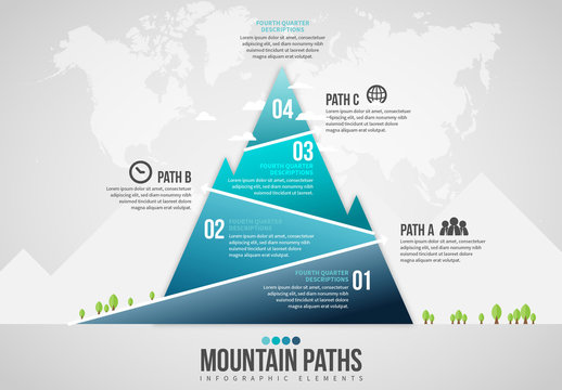 Mountain Paths Infographic Layout