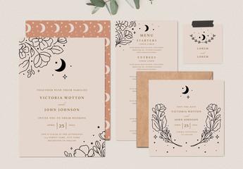 Boho Rustic Wedding Suite Templates