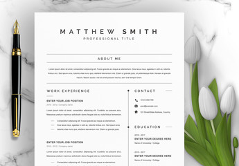 Minimalist Resume Layout