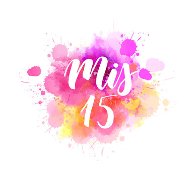 Mis 15 - handlettering on watercolor splash