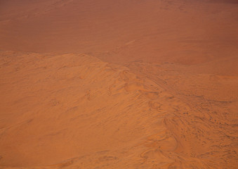 Fotobehang Baksteen Aerial picture of the landscape of the Namib Desert in western Namibia