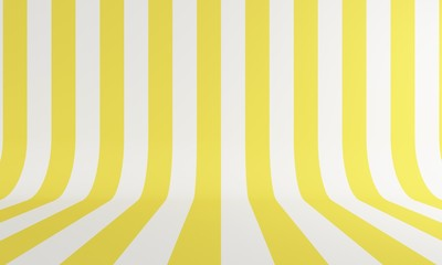 Abstract background with yellow and white line. Backdrop design for product promotion. 3d rendering - fototapety na wymiar