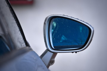 This is a view of Citroen C5 X7 side mirror