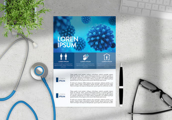 Medical Flyer Layout with Coronavirus Information