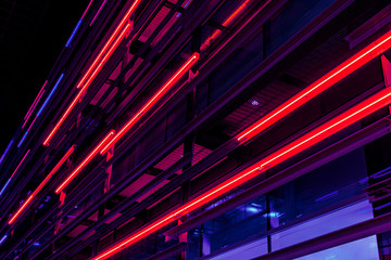 Neon Light trails in Los Angeles