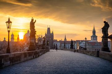 Foto op Aluminium Praag Prague Charles Bridge Sunrise