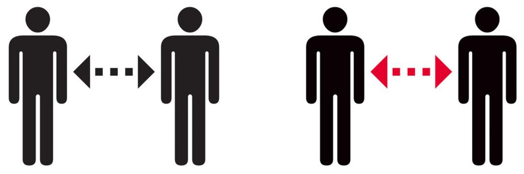 DISTANCE SOCIALE ENTRE 2 PERSONNES