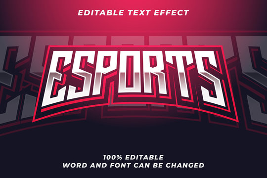 Esport text style effect Premium Vector