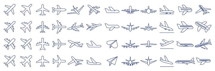 飛行機 線 アイコンセット