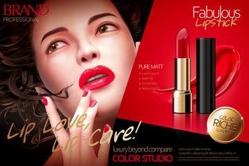 Fabulous lipstick ads Wall mural
