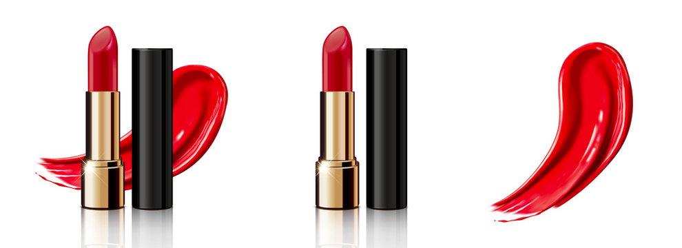 Red lipstick set