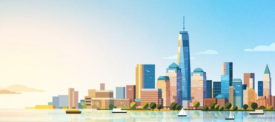 Fototapeta Manhattan west skyline scene obraz
