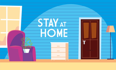 stay at home awareness social media campaign and coronavirus prevention
