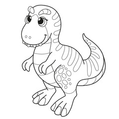 Coloring book for children baby Tyrannosaurus