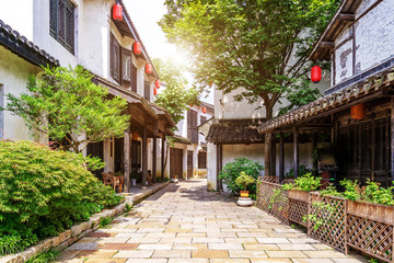 Chinese historical customs town Fotomurales