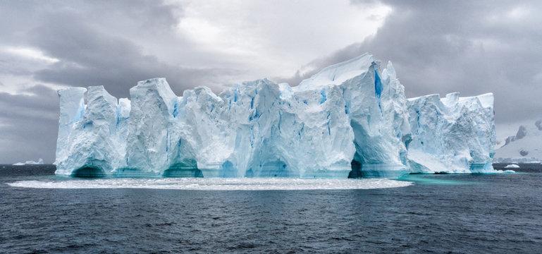 Iceberg in Antarctica sea. Port Lockroy.