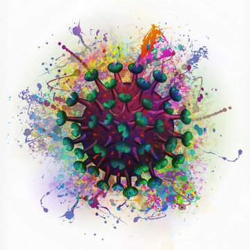 coronavirus creative abstract element on flash  background