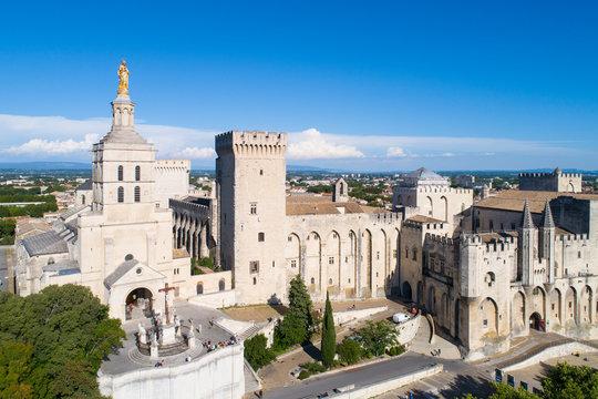 Aerial view of Avignon