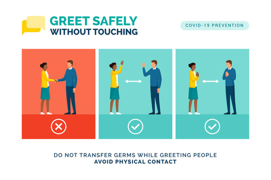 How to greet safely without touching