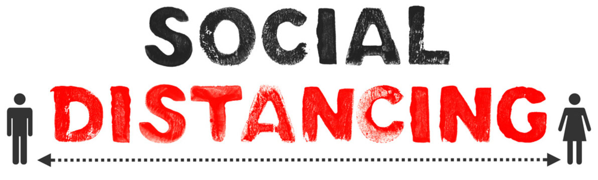 Keine sozialen Kontakte - Social Distancing