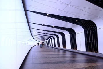 Walkway connecting underground passage at King's Cross Station