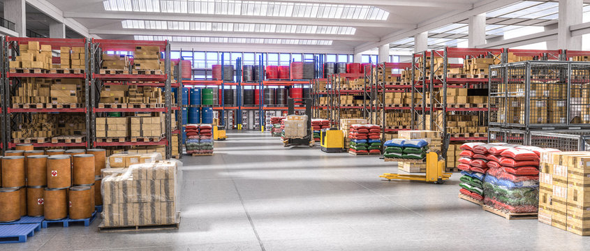 interior of a warehouse full of different goods