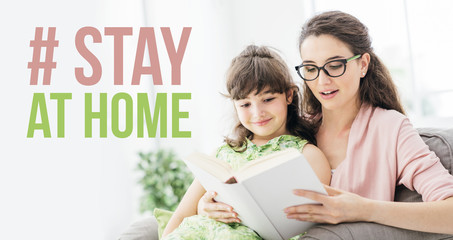 Stay at home social media awareness campaign for coronavirus prevention