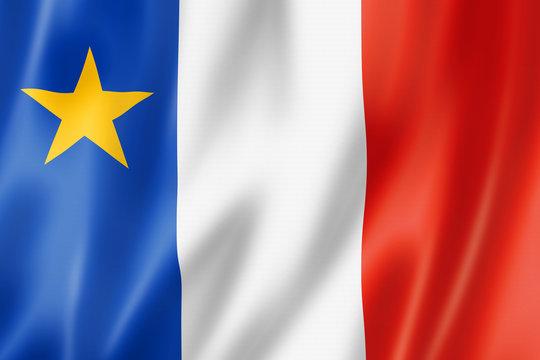 Acadians ethnic flag, America