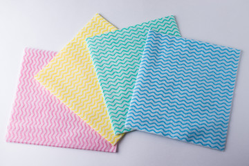 Group of wipes in different colors