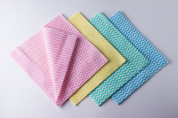 Set of wipes in different colors
