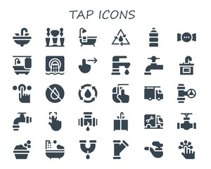 tap icon set