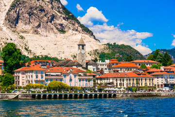 Beautiful Baveno town - famous tourist center and resort in Lago Maggiore, northen Italy