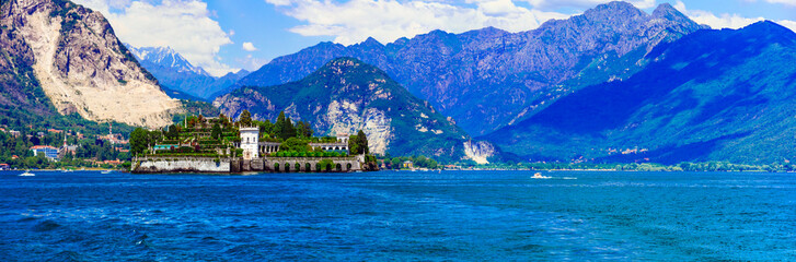 Landmarks and nature of northern Italy. Lago Maggiore - beautiful island Isola Bella.