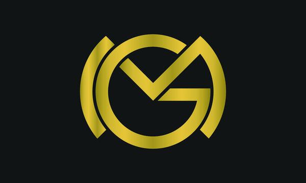 GM, MG Letter Logo Design with Creative Modern Trendy Typography and monogram logo.