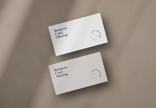 Two Minimal Business Cards Mockups