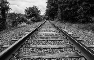 Canvas Prints Railroad railroad tracks