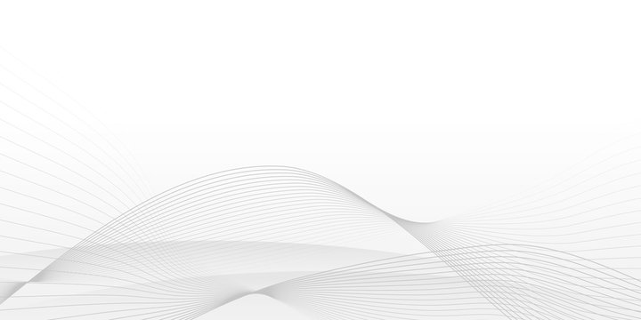 White Curve Line Abstract Background with minimalist concept