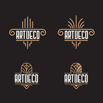Art Deco ornaments logo template