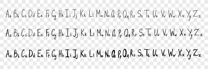 Hand drawn latin letters, alphabet set collection Wall mural