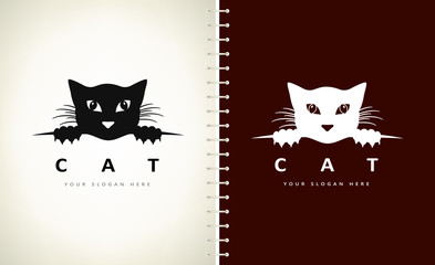 Cat logo vector animal design Wall mural