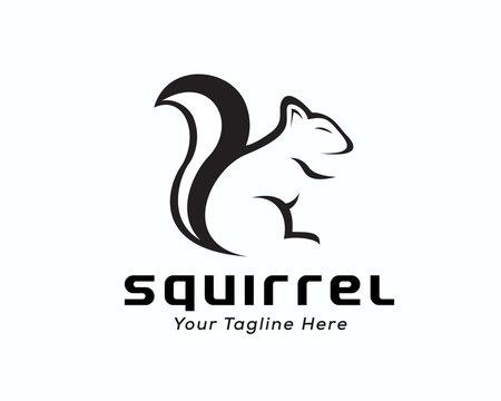 shadow Drawing art squirrel logo design inspiration