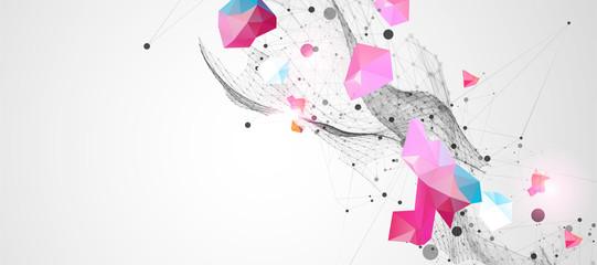 Trendy fluid cover design with plexus effect. Fotoväggar