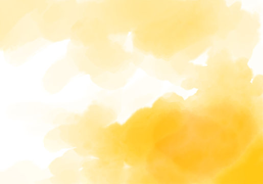 yellow watercolor illustration, design element, aquarelle paint texture, texture for background and wallpaper