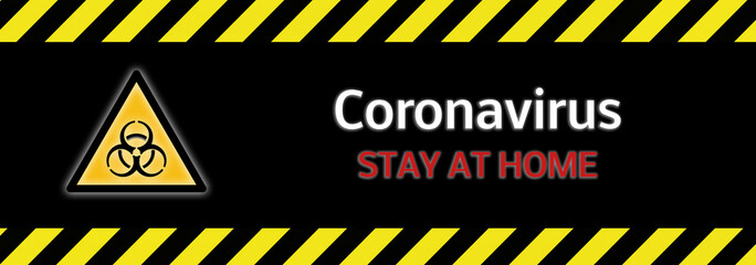 Stay at Home Banner Coronavirus