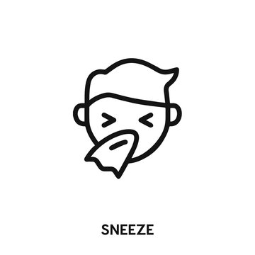 sneeze icon vector. flu icon vector symbol illustration. Modern simple vector icon for your design. sneeze icon vector